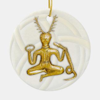 Oro Cernunnos - ornamento redondo Adorno Redondo De Cerámica