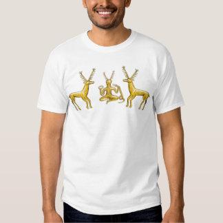 Oro Cernunnos y ciervos - camiseta Polera