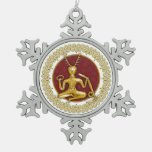 Oro Cernunnos y espirales - ornamento 1 del estaño