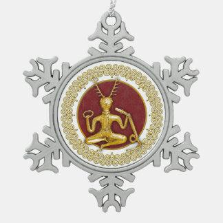 Oro Cernunnos y espirales - ornamento 1 del estaño Adornos