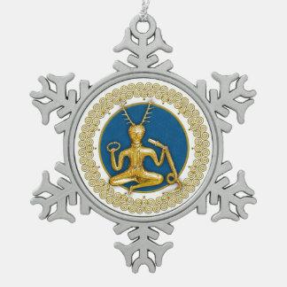 Oro Cernunnos y espirales - ornamento 2 del estaño Adorno