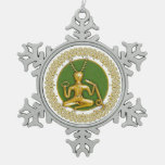 Oro Cernunnos y espirales - ornamento 3 del estaño