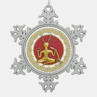 Oro Cernunnos y espirales - ornamento 4 del estaño Adornos