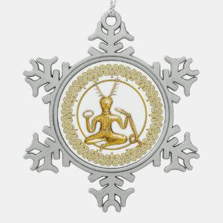Oro Cernunnos y espirales - ornamento 5 del estaño Adornos