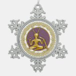 Oro Cernunnos y espirales - ornamento 6 del estaño