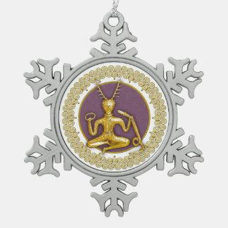 Oro Cernunnos y espirales - ornamento 6 del estaño Adornos