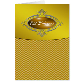 Oro Chevron de Eid Mubarak Tarjeta De Felicitación