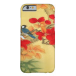 Oro chino y floral rojo funda para iPhone 6 barely there