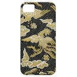 Oro chino y modelo negro de Phoenix iPhone 5 Case-Mate Coberturas