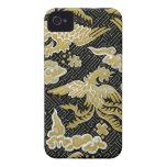 Oro chino y modelo negro de Phoenix iPhone 4 Case-Mate Cárcasas