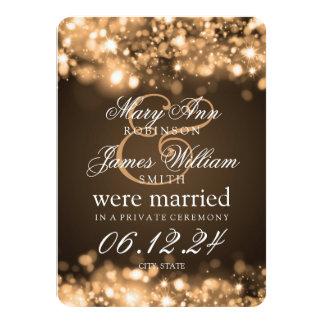 """Oro chispeante de las luces de la fuga de la boda invitación 4.5"""" x 6.25"""""""