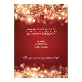 """Oro chispeante de las luces de la recepción invitación 4.5"""" x 6.25"""""""