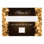 Oro chispeante de las luces de Placecards del boda Tarjetas De Visita Grandes