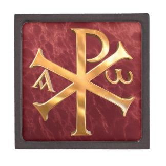 Oro Christogram Cajas De Joyas De Calidad