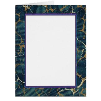 Oro ciánico azul veteado de la tarjeta de