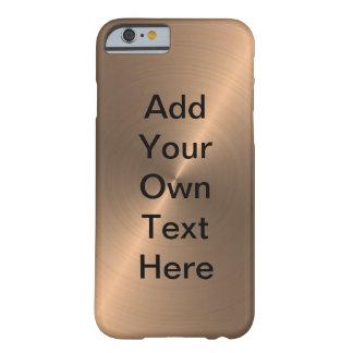 Oro color de rosa funda para iPhone 6 barely there