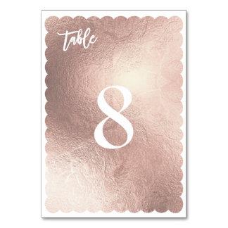 Oro color de rosa/tabla de la concha de peregrino