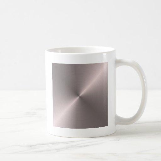 Oro color de rosa taza
