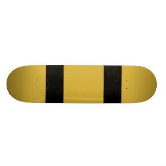 oro con dos líneas negras tablas de patinar