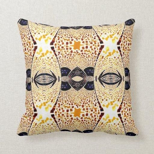 Oro con la almohada negra de las correas