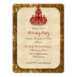 Oro con la invitación roja del día de fiesta de la invitación 16,5 x 22,2 cm