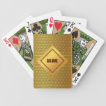 Oro con monograma baraja de cartas