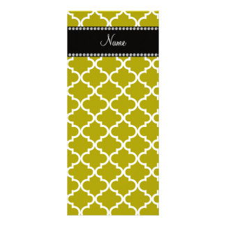 Oro conocido personalizado coloreado marroquí tarjetas publicitarias personalizadas