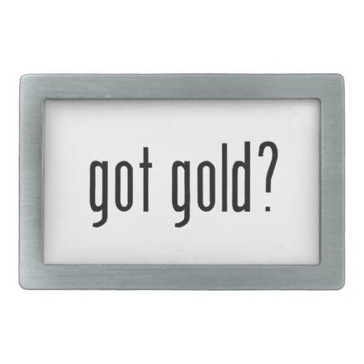 ¿oro conseguido? hebilla de cinturón rectangular