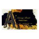 Oro contemporáneo moderno del negro del arte abstr tarjetas de visita