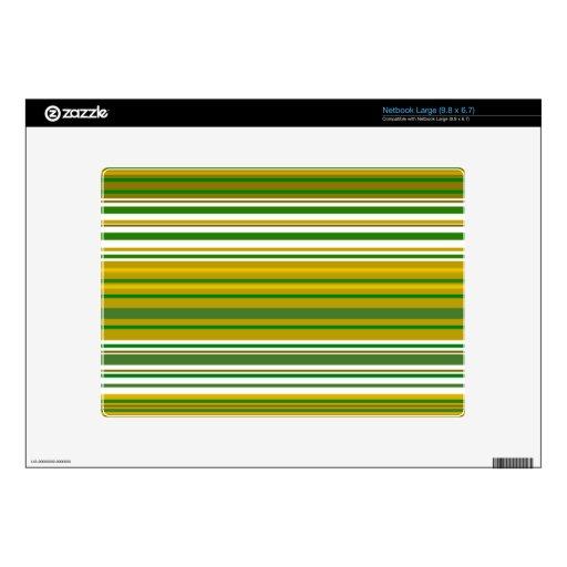 Oro contemporáneo y rayas verdes netbook grande skin