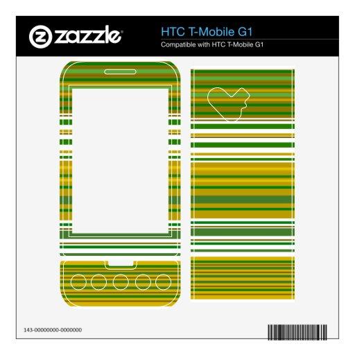 Oro contemporáneo y rayas verdes HTC T-Mobile g1 skins