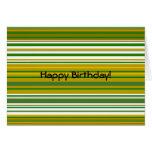 Oro contemporáneo y rayas verdes tarjeta