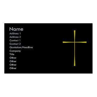 Oro cruzado del libro de oración tarjetas de negocios