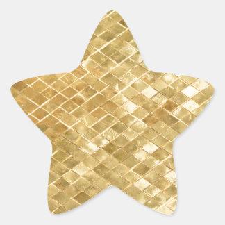 oro, cuadrado, modelo, de oro, de moda, moderno, pegatina en forma de estrella