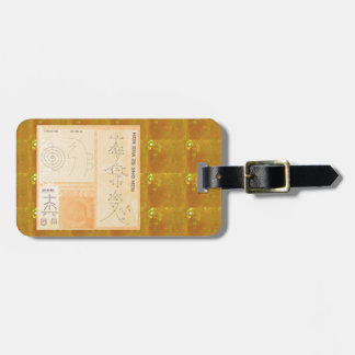 Oro curativo de REIKI Oro del CRISTAL de las mues Etiquetas Maleta