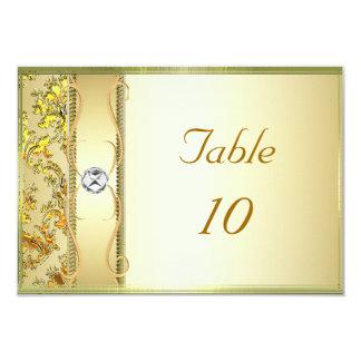 """Oro D1 en tarjeta de la colocación del damasco del Invitación 3.5"""" X 5"""""""