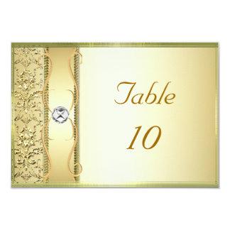 """Oro D2 en tarjeta de la colocación del damasco del Invitación 3.5"""" X 5"""""""