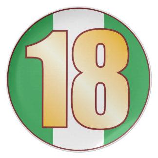 Oro de 18 NIGERIA Platos De Comidas
