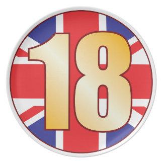 Oro de 18 Reino Unido Platos De Comidas