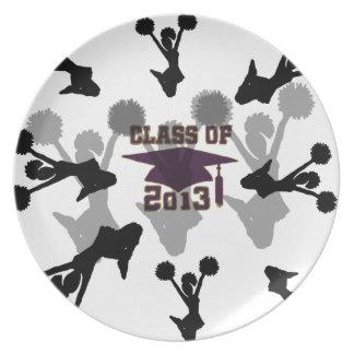 oro de 2013 púrpuras plato de comida