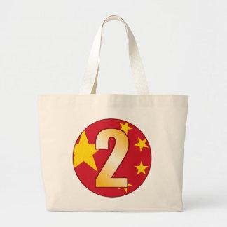 Oro de 2 CHINA Bolsa Tela Grande