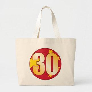 Oro de 30 CHINA Bolsa Tela Grande