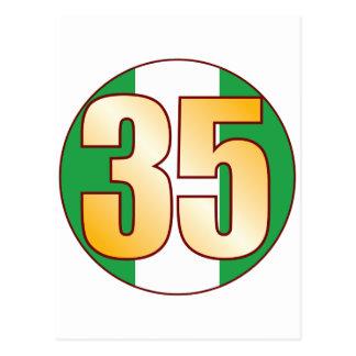 Oro de 35 NIGERIA Tarjeta Postal