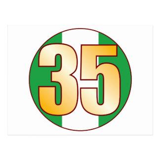Oro de 35 NIGERIA Tarjetas Postales
