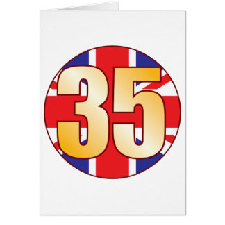 Oro de 35 Reino Unido Tarjeta De Felicitación