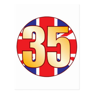 Oro de 35 Reino Unido Tarjeta Postal