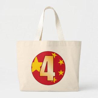 Oro de 4 CHINA Bolsa Tela Grande