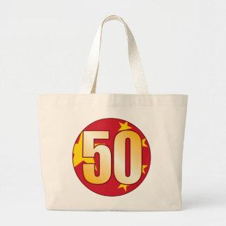 Oro de 50 CHINA Bolsa Tela Grande
