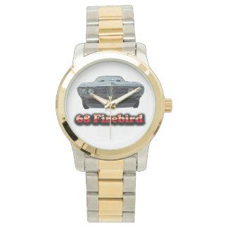 Oro de 68 Firebird y reloj del tono plateado