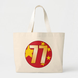 Oro de 77 CHINA Bolsa Tela Grande